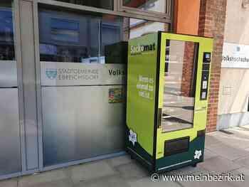 Umweltschutz ...: GVA - Müllsackautomat ( Sackomat ) beim Gemeindeamt Ebreichsdorf - Juni 2021 - meinbezirk.at
