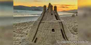 Castelo de areia magnífico feito por artista misterioso viraliza em Ubatuba - Jornal Costa Norte