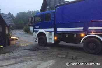 Einsatz für das THW Bad Honnef nach Starkregen in Hennef - Honnef heute
