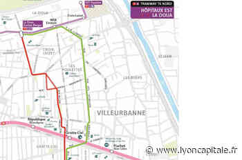 Nouveau tram à Villeurbanne : le tracé choisi au nord des Gratte-Ciel dévoilé ce lundi matin - LyonCapitale.fr