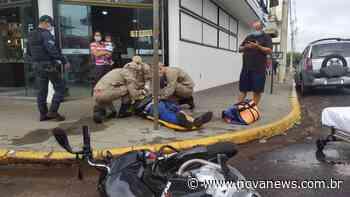 Nova Andradina - Motociclista fica ferido em acidente no cruzamento da - Nova News