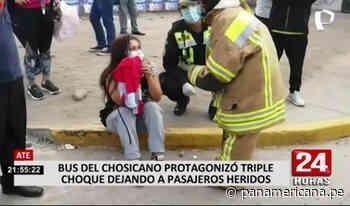 Triple choque dejó alrededor de 20 heridos en Chosica - Panamericana Televisión