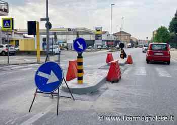 Carmagnola: in corso i lavori per mettere in sicurezza via Torino - Il carmagnolese