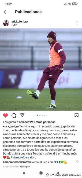 Erick Ferigra se despide del Torino | udlaspalmas.NET - UDLasPalmas.net