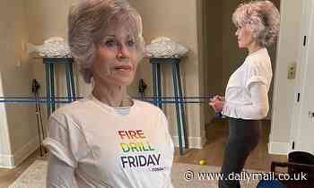 Jane Fonda, 83, shares snaps of strength training session ahead of pipeline protest in Minnesota - Daily Mail