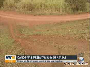 Represa Tambury em Araras sofre danos após uso inadequado por pessoas que fazem trilha no local - G1