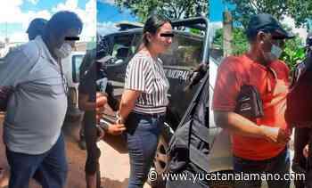 Caen tres sujetos por comprar votos a domicilio en Pustunich, Ticul - Yucatán a la mano