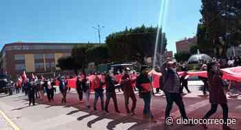 """Juliaca: Cientos de pobladores marchan en las calles arengando """"No al fraude"""" - Diario Correo"""