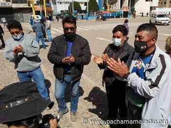 Dirigentes llegan a EsSalud Juliaca para constatar estado de planta de oxígeno - Pachamama radio 850 AM