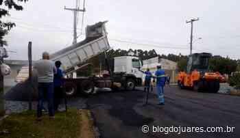 Prefeitura retoma serviços de reperfilagem na Rua Erlínio Assis em Camaquã - Blog do Juares
