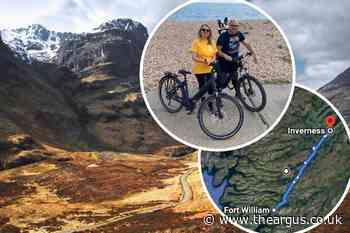 Amputee biking across Scotland for Sussex children's hospice