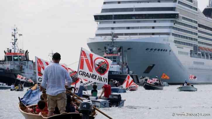 La vuelta de cruceros, motivo desigual de protestas y alegrías en Venecia - FRANCE 24 Español