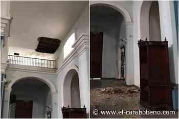 Se cayó parte del techo de la iglesia La Candelaria - El Carabobeño