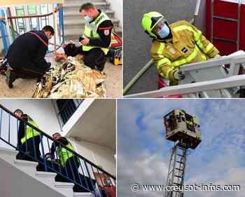 MONTCHANIN : Les pompiers en intervention à l'école Serge Boutavant, pour un exercice XXXXL (2) - Creusot-infos.com