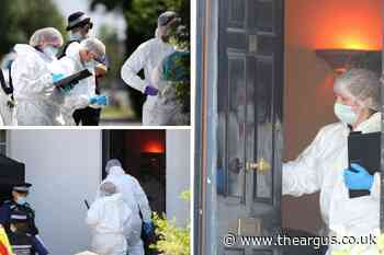 Three men arrested after woman found dead in Horsham