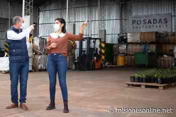 Malena Mazal y Fernando Santacruz recorrieron la Planta de Procesamiento de Residuos Verdes junto Lalo Stelatto y Carlos Arce - Misiones OnLine