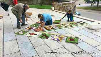 Geislingen - Bunte Teppiche, Pfeil und viele Platten - Schwarzwälder Bote
