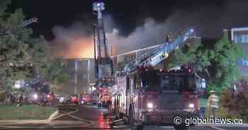 Nearly 150 apartments evacuated during overnight fire in Montreal's Dollard-des-Ormeaux suburb - Global News