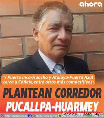 Plantean corredor Pucallpa-Huarmey - DIARIO AHORA