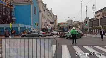 Cercado de Lima: reabren el tránsito en la avenida Abancay - LaRepública.pe