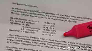 Kostenexplosion bringt Baubranche in Neuenrade in Bedrängnis - come-on.de