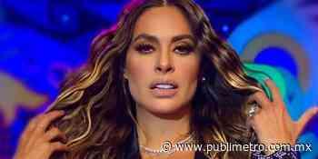 Galilea Montijo cautiva en vestido tejido negro transparente con lentejuelas - Publimetro México