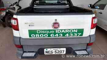 Fiat Strada é furtada na agência Idaron em Rolim de Moura - ROLNEWS