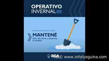 """Río Grande puso en marcha el """"Operativo Invernal"""" - Infofueguina"""