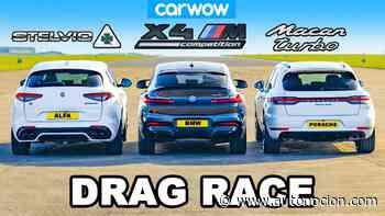 [Vídeo] Macan Turbo vs. Stelvio QV vs. BMW X4 M: ¿Cuál es el SUV más poderoso? - Autonocion.com