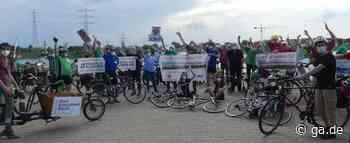 In Niederkassel: Radfahrer demonstrieren gegen die Rheinspange - General-Anzeiger Bonn