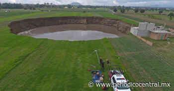 Socavón de Santa María Zacatepec ya alcanzó los 110 metros de diámetro - Periodico Central