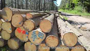 Wald in Niedereschach - Horrende Holzpreise kommen nicht beim Waldbesitzer an - Schwarzwälder Bote