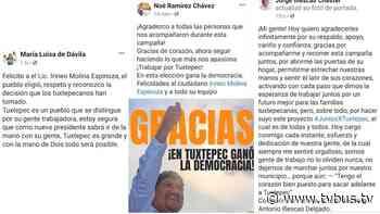 Con mensajes en redes sociales, ex candidatos a la presidencia de Tuxtepec agradecen votos - TV BUS Canal de comunicación urbana