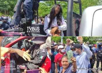 Violencia en Tuxtepec por presunta compra de voto; lanzan dinero al aire - TV BUS Canal de comunicación urbana