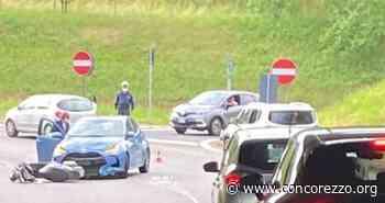 Paura in via Agrate, auto investe scooter - Concorezzo.org