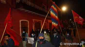 Partidarios de Perú Libre de Juliaca, Puno e Ilave protestan por supuesto fraude electoral - LaRepública.pe