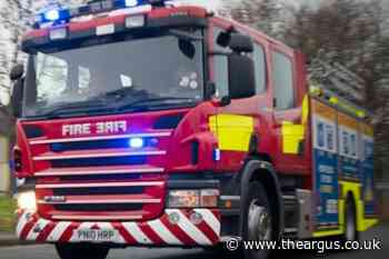 Firefighters battle blaze at Ripley scrapyard , Newhaven