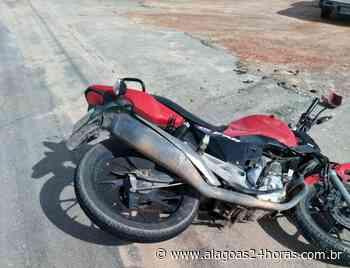 Condutor invade contramão e colide com moto em Palmeira dos Índios - Alagoas 24 Horas
