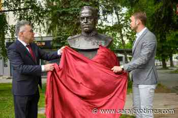Bust of WWII Soviet Military Commander Marshal Zhukov unveiled in BiH - Sarajevo Times