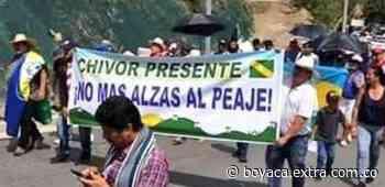 Diferentes personas en Valle de Tenza protestaron por el precio de peajes [VIDEO] - Extra Boyacá