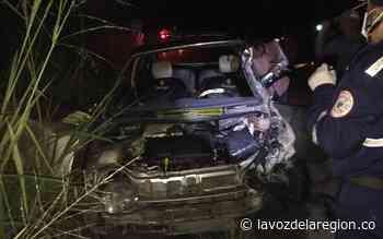 Aparatoso accidente dejó dos personas heridas en Suaza - Huila