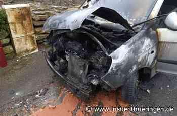 Oberweid - Auto brennt aus heiterem Himmel - inSüdthüringen