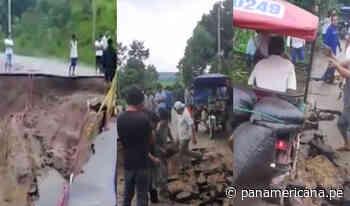 San Martín: Carretera San José de Sisa en colapso por su mala construcción - Panamericana Televisión