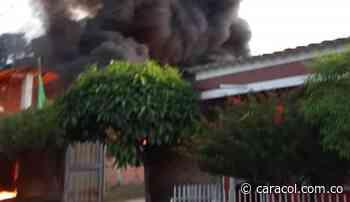 Gran incendio estructural causó pánico en Venadillo, Tolima - Caracol Radio