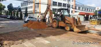 Trecho no bairro Horto, em Ipatinga, é interditado para obras da prefeitura - G1