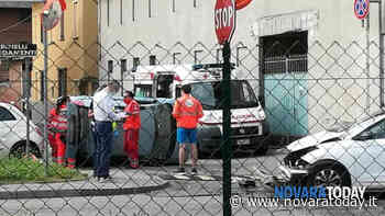 Incidente a Galliate | Scontro tra due auto, una si ribalta: ferita una donna - NovaraToday