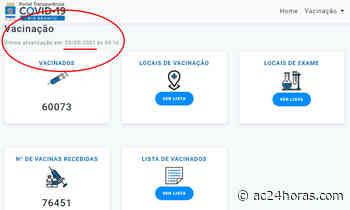 Rio Branco não atualiza vacinados e vacinas recebidas há 13 dias - ac24horas.com