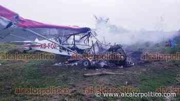 Se desploma avioneta fumigadora, en Cosamaloapan - alcalorpolitico
