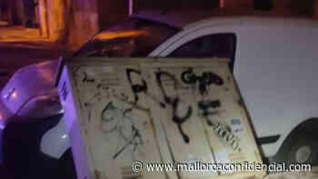 9 vehículos con destrozos en Son Armadams y Santa Catalina - Mallorca Confidencial