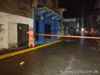 Colapsa edificio de antigua pensión en San Felipe - Crítica Panamá